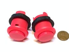 2 Piece Pink Arcade momentary PUSH BUTTON SWITCH DC N/O normally open on/off B28