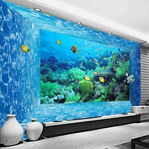 3D Photo Underwater World Designed Wallpaper For Home Decorations Bedroom Tools