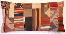(40*80cm, 16*32inch) Genuine Turkish handwoven kilim cushion patchwork rect 3