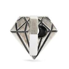 AUTHENTIC TROLLBEAD SILVER DIAMOND IN THE ROUGH TAGBE-40039 DIAMANTE GREZZO