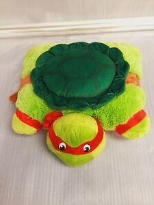 "Nickelodeon Pillow Pets Raphael Teenage Mutant Ninja Turtles Pillow 16""x16"" NEW"
