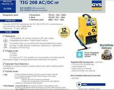 GYS INVERTER TECH WATER COOLED 200A TIG WELDING MACHINE + TORCH 230V 1 PHASE