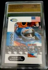 MARCO ANDRETTI SHOWCASE GEM MINT 10  INDIANAPOLIS 500  HERO CARD
