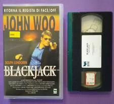 VHS Film Ita Azione BALCKJACK dolph lundgren john woo ex nolo no dvd cd lp(V169)