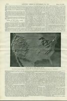 1897 Relief Map United States Maps Models Scientific American Vintage Article
