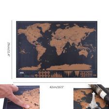 Edición De Lujo rasguño viaje cerrar sesión Gran Poster Cartel Mapa del mundo personalizado