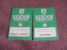 1974 Hendon v Edgware Middlesex Senior Cup Final