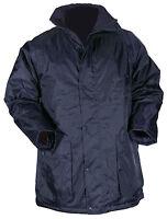 Blackrock Work Wear Waterproof Uniform Coat Quilted Full Length Navy / Black