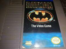 BATMAN THE VIDEO GAME Nintendo NES Original USA NTSC 1980s Videogame Spiel