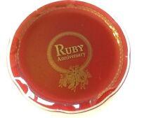 """10"""" RUBBY ANNIVERSARY GLASS PLATE"""