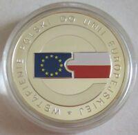 Polen 10 Zlotych 2004 EU-Beitritt Silber