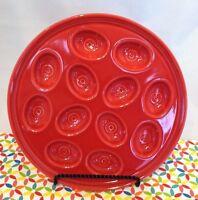 Fiestaware Scarlet Egg Tray Fiesta Red Deviled Egg Serving Plate