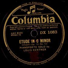 LOUIS KENTNER -PIANO- Chopin: Etude in C Minor / Polonaise in A Major 78' G2984