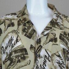 Panama Jack  Mens Hawaiian Shirt 3XL Rum Bottle Sea Shells Ship Aloha Friday