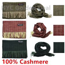 Wholesale Lot Men Women 100% CASHMERE Scarf Scotland Thick Stripe Super Soft