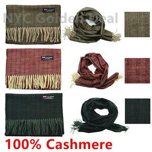 Wholesale Lot Men Women 100% CASHMERE Scarf Scotland Thick Stripe Super Soft