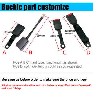 1PC Seat Belt Buckle Part Stalk Extender Socket Customize Hard/Soft/Long/Short