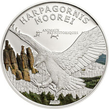 Eagle Harpagonis Moorei - Prehistoric Wildlife 1000 Franc Silver Coin Gabon 2013