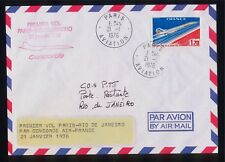 Lettre AVIATION - Premier VOL Paris - Rio de Janeiro - CONCORDE par AIR FRANCE