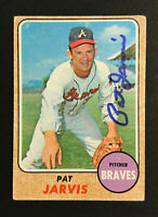 Pat Jarvis Braves signed 1968 Topps baseball card #134 Auto Autograph 2