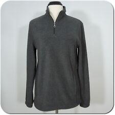 CROFT & BARROW Men's Gray Fleece Half Zip Top, Long sleeves size S