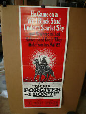 GOD FORGIVES. I DON'T, orig 14x36 / movie poster (Terence Hill, Bud Spencer)