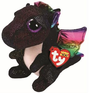 Ty Beanie Boos 36897 Anora the Black Dragon Boo Regular