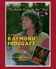 """RAYMOND FROGGATT - Flyer for 1994 """"Hands Across The Sea"""" Tour - Randy Vanwarmer"""
