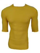 Adidas TechFit Climachill Funktionsshirt Compression Laufshirt gelb Gr.S