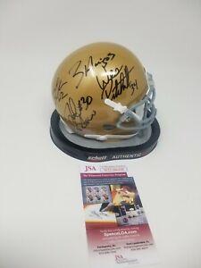 3 Amigos Notre Dame Signed Autographed Mini Helmet Fighting Irish 88 Champs