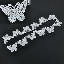Wedding Sewing White Butterfly Lace Vintage Edge Trim Ribbon Applique Crafts 1M
