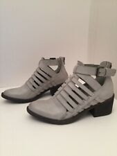 Volatile Murrieta Gray Cut Out Ankle Boots Size 6M *NEW