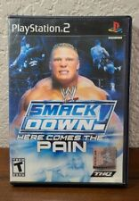 WWE SmackDown Here Comes the Pain (PlayStation 2 PS2) DAMAGED COVER ART - AS IS