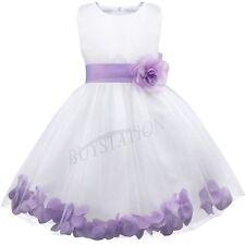Flower Girl Princess Dress Wedding Bridesmaid Pageant Recital Graduation Prom