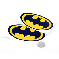2x BATMAN LOGO STICKERS Vinyl Car Sticker Van Motorbike Skateboard Stickers