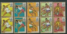 BURUNDI 1968 MEXICO OLYMPICS complete set PERF and IMPERF VF MNH