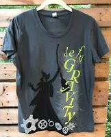 Wm. Jr. smaller XL Organic Cttn Tshirt Green for Good WICKED Witch Defy Gravity