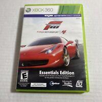 Forza Motorsport 4: Essentials Edition Microsoft Xbox 360 Video Game Free Ship