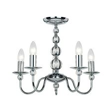Endon Lighting 2013-5CH 5 Light Chandelier In Chrome And Glass