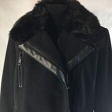 Marc New York Andrew Marc Asymmetric Zip Wool Blend Coat Womens sz 12