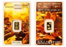 1g Argor Heraeus Goldbarren 1 Gramm 9999 Herbst Blätter Laub Autumn Fall Nature