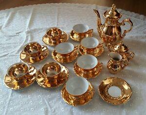 Alte Bavaria Service 24 Teile  Moccaservice Konvolut  Gold Rarität Vintage