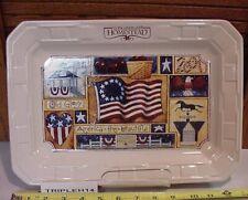 "Longaberger Baskets Homestead Usa Pottery Americana 13"" Serving Tray/Platter"