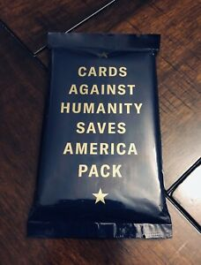 Cards Against Humanity Saves America Pack - Expansion Set Stocking Stuffer New