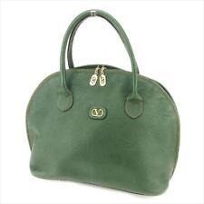Valentino Garavani Bag Handbag V logos Green Gold leather Woman unisex F1345