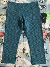 ✨NWT✨ Glyder Teal Blue/Green Space Dye Mantra Crop Pants, Size XS
