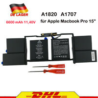 "6600 mAh 11,40V Akkus für Apple Macbook Pro 15"" A1820 020-01728 A17072016 2017"