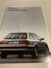 The New Audi 100 Estate - Car sales brochure