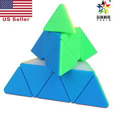 YuXin Black Kirin Pyraminx Stickerless Speed Cube Puzzle Magic World Record NEW