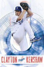 CLAYTON KERSHAW - LOS ANGELES DODGERS POSTER - 22x34 BASEBALL MLB 13429